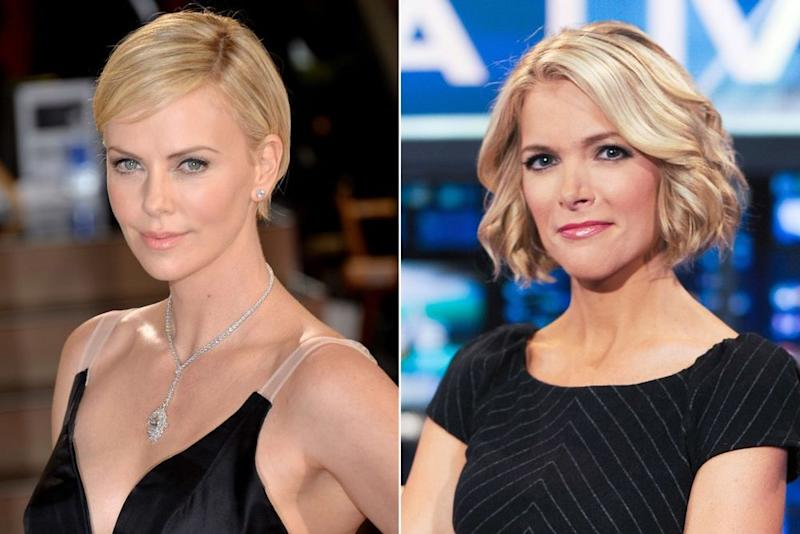 Charlize Theron and Megyn Kelly | Michael Buckner/Getty; Ron Antonelli/NY Daily News via Getty
