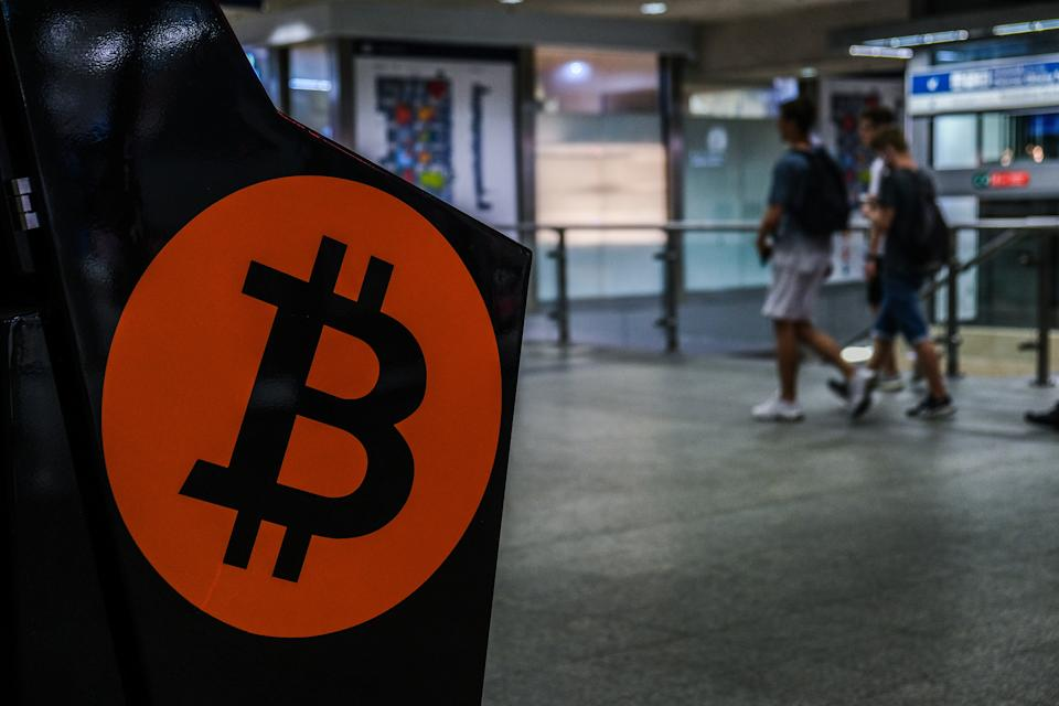 KRAKOW, POLAND - 2021/06/10: A bitcoin hotspot is pictured inside a shopping mall. (Photo by Omar Marques/SOPA Images/LightRocket via Getty Images)