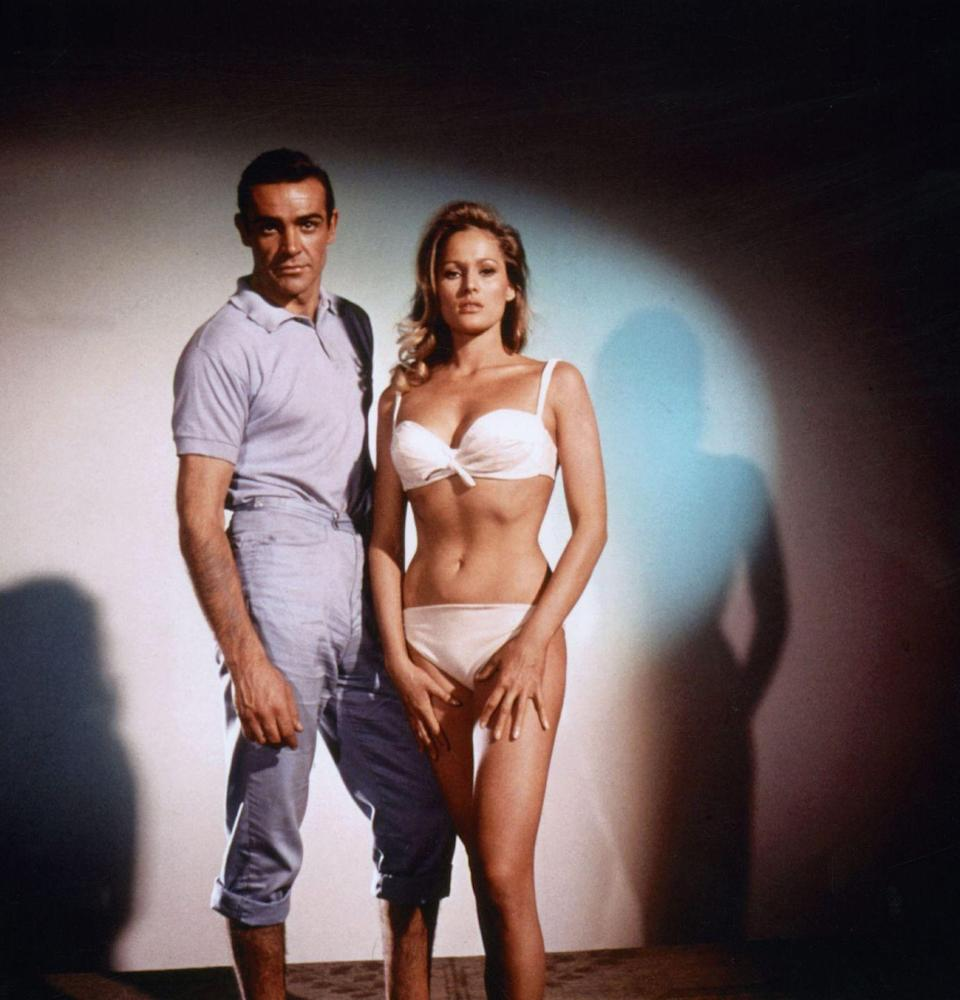 <p>With Ursula Andress in 1962 for Dr. No. </p>