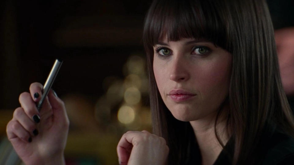 Felicity Jones made a brief appearance as Felicia Hardy in 'The Amazing Spider-Man 2'. (Sony)