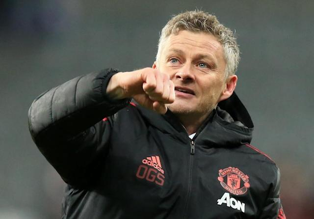 Manchester United interim manager Ole Gunnar Solskjaer has won all five matches during his time in charge (AFP Photo/Lindsey PARNABY)