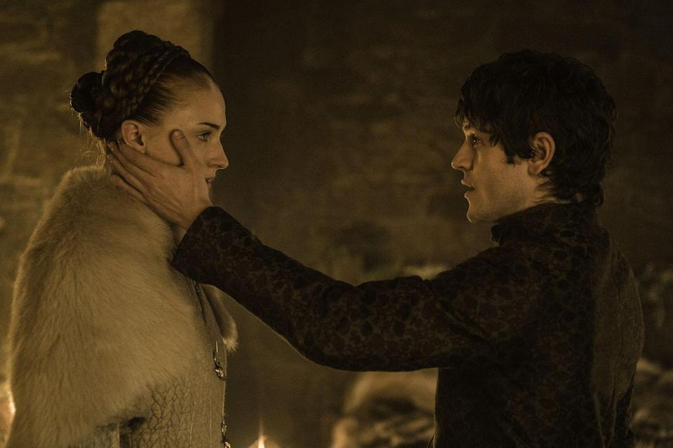 <p>It's important to note that this is the last time we'll ever see Sansa wearing lighter colors. After all that she's been through, her marriage to Ramsay Bolton marks the official end of Sansa's innocence. The Sansa that we know now has an edge to her, with darker fashion to match. </p>