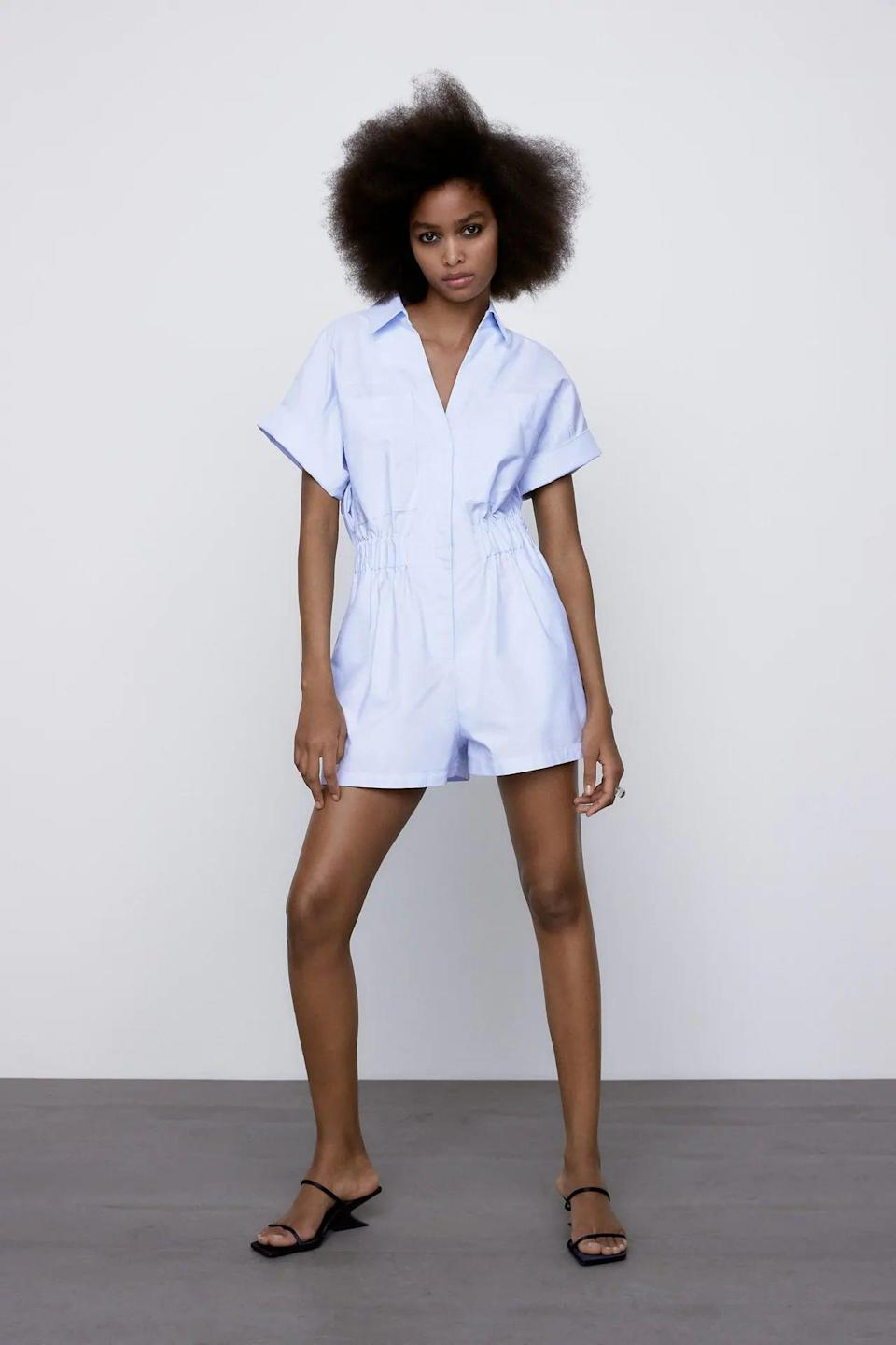 <p>I bet this <span>Oxford Short Jumpsuit</span> ($40) makes a great travel companion.</p>