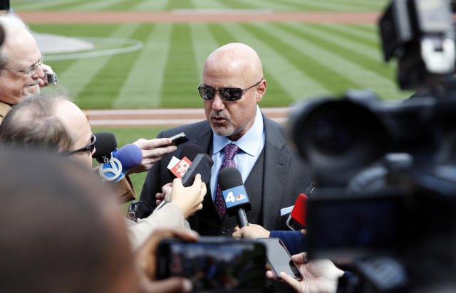 Mike Rizzo fired back at an anonymous NL exec who ripped Bryce Harper. (AP Photo)