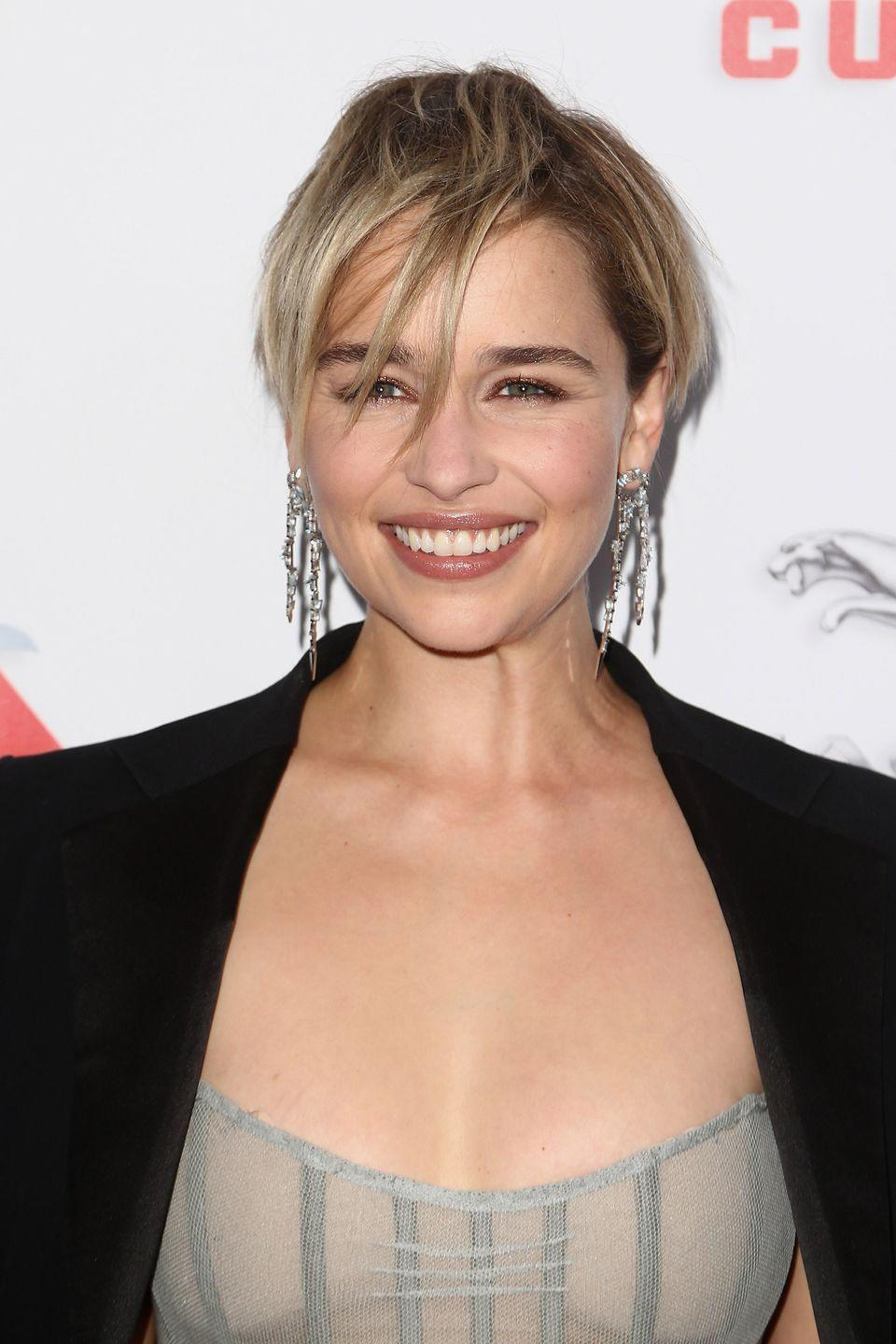 <p>The <em>Game of Thrones</em> star chopped off her hair (and went blonde!) to mark the end of the HBO series.</p>