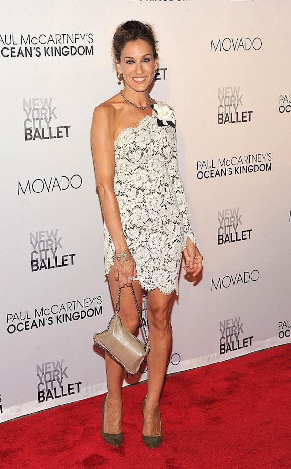 Sarah Jessica Parker was sexy in the city thanks to the one-shoulder frock she sported at the 2011 New York City Ballet Fall Gala at Manhattan's Lincoln Center. (9/22/2011)
