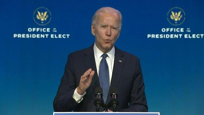 """""""I wish we could say we couldn't see it coming, but that isn't true. We could see it coming,"""" US President-elect Joe Biden says as he launches a blistering attack on Donald Trump after the president's supporters stormed the Capitol"""