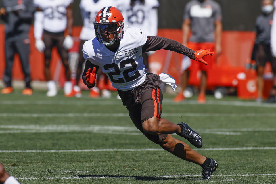 The Browns had high hopes for Grant Delpit this year. (AP Photo/Ron Schwane)