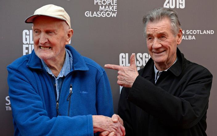 Sir Michael Palin and Scottish mountaineer Hamish Macinnes at the Glasgow Film Festival for the UK Premiere of Final Ascent - SWNS
