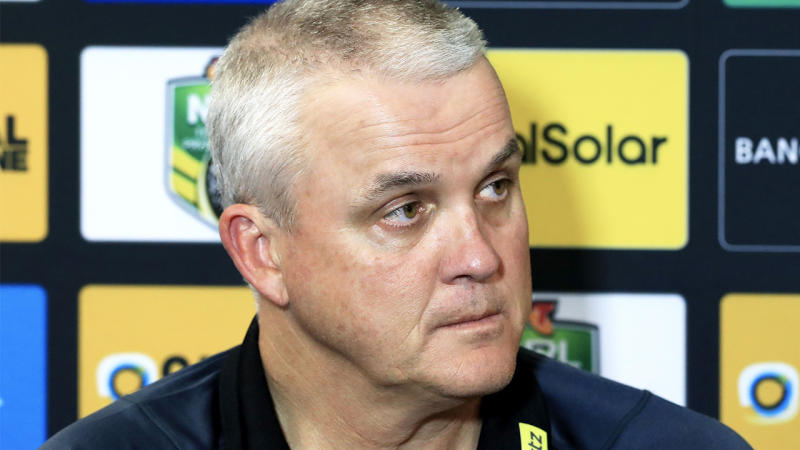 Former Penrith coach Anthony Griffin during a press conference.