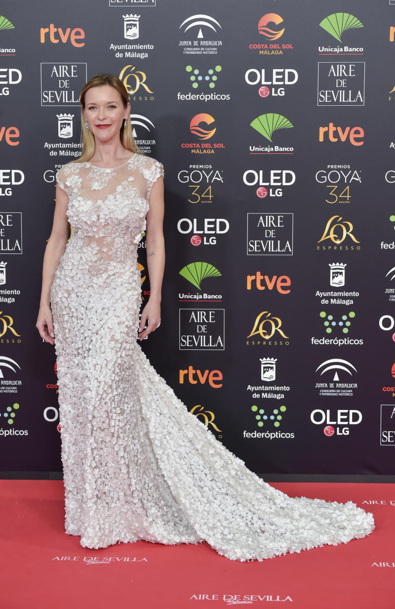 MALAGA, SPAIN - JANUARY 25: María Esteve attends the Goya Cinema Awards 2020 during the 34th edition of the Goya Cinema Awards at Jose Maria Martin Carpena Sports palace on January 25, 2020 in Malaga, Spain. (Photo by Juan Naharro Gimenez/WireImage)