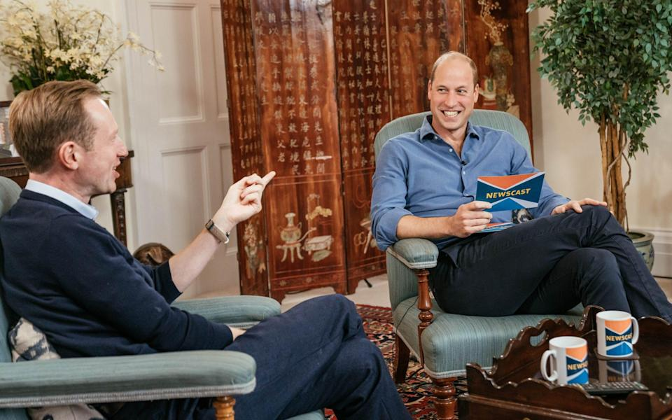 Prince William appeared on the BBC Newscast ahead of the inaugural Earthshot Prize Awards Ceremony - Kensington Palace/BBC Newscast on BBC Sounds