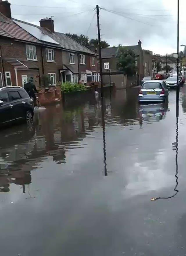 Flooding in Sturges Avenue, Walthamstow