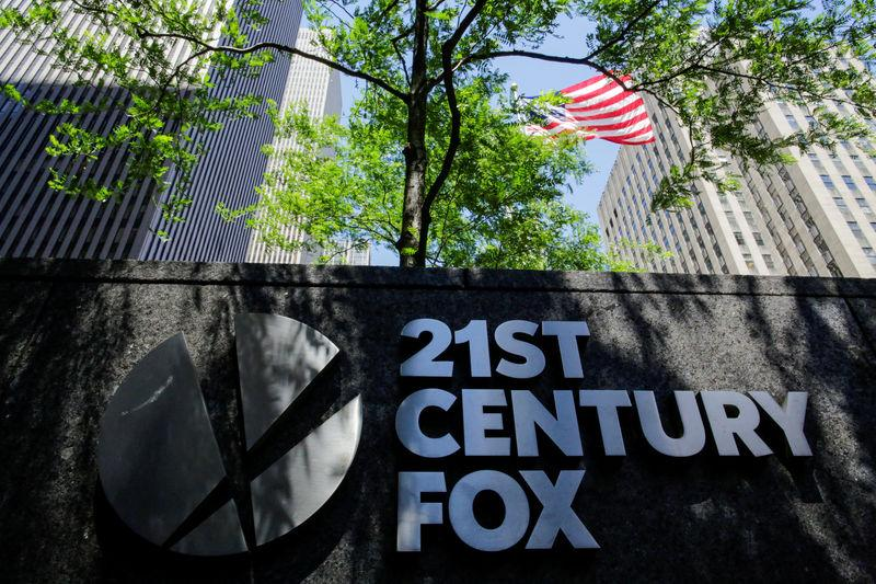 FILE PHOTO: The 21st Century Fox logo is displayed outside the News Corporation building in the Manhattan borough of New York City, New York