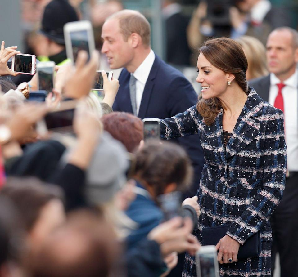 """<p>For security reasons, the royal family is <a href=""""https://www.marieclaire.com/culture/g4985/strict-rules-the-royal-family-has-to-follow/?slide=17"""" rel=""""nofollow noopener"""" target=""""_blank"""" data-ylk=""""slk:prohibited from taking selfies"""" class=""""link rapid-noclick-resp"""">prohibited from taking selfies</a> with fans—even a famous fan.</p>"""