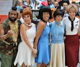 "<p>Besides Wilma and Betty, Al stepped out as Mr. T's B.A. Baracus from <em>The A-Team. </em>As for Natalie and Savannah, the ""classic TV show"" theme inspired them to dress up as Laverne and Shirley. </p>"
