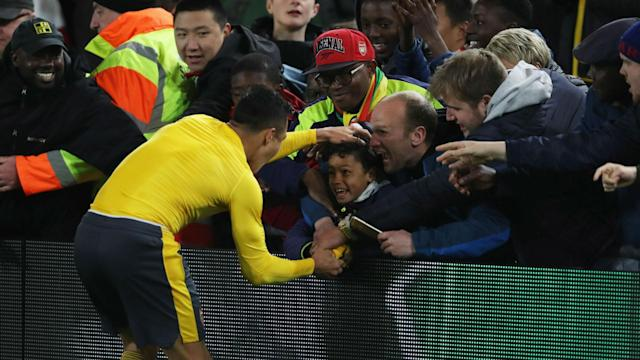 Arsene Wenger praised Alexis Sanchez's efficiency in front of goal after the Chile star fired Arsenal to the FA Cup final on Sunday.