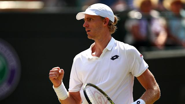 Roger Federer's defence of the Wimbledon title is over after Kevin Anderson produced an epic comeback to reach the semi-finals.