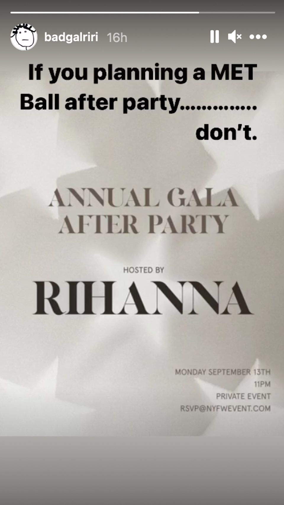Rihanna announces she will be hosting Met Gala after-party (Rihanna)