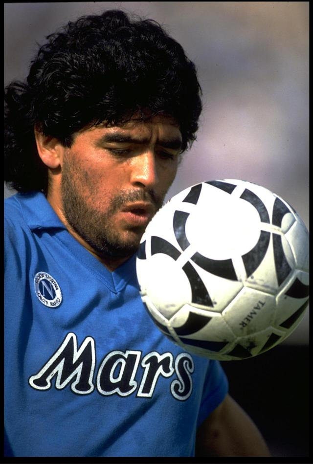 <p><b>Diego Maradona</b><br><b>1984:</b> Barcelona to Napoli for £5m </p>