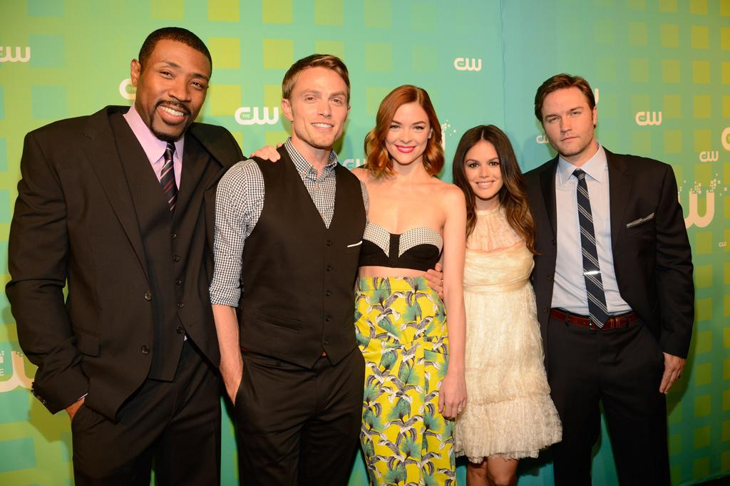 "Cress Williams, Wilson Bethel, Jamie King, Rachel Bilson, and Scott Porter (""Hart of Dixie"") attend The CW's 2012 Upfronts on May 17, 2012 in New York City."