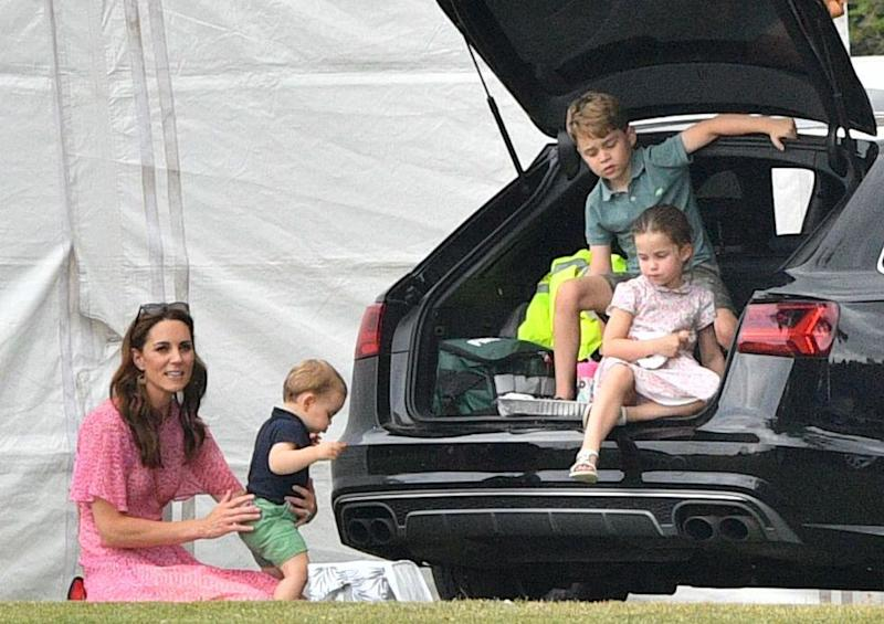 Kate Middleton, Prince Louis, Prince George and Princess Charlotte | Tim Rooke/Shutterstock