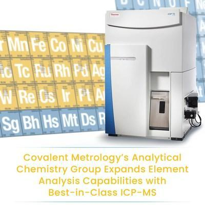Covalent Metrology's Analytical Chemistry Group Expands Element Analysis Capabilities with ICP-MS.