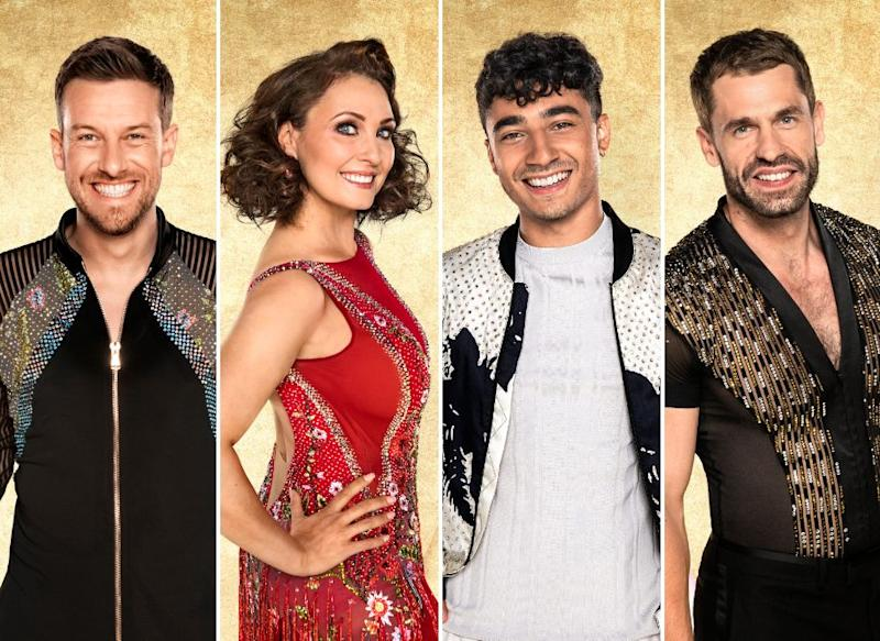 Strictly semi-finalists Chris Ramsey, Emma Barton, Karim Zeroual and Kelvin Fletcher (Photo: BBC)