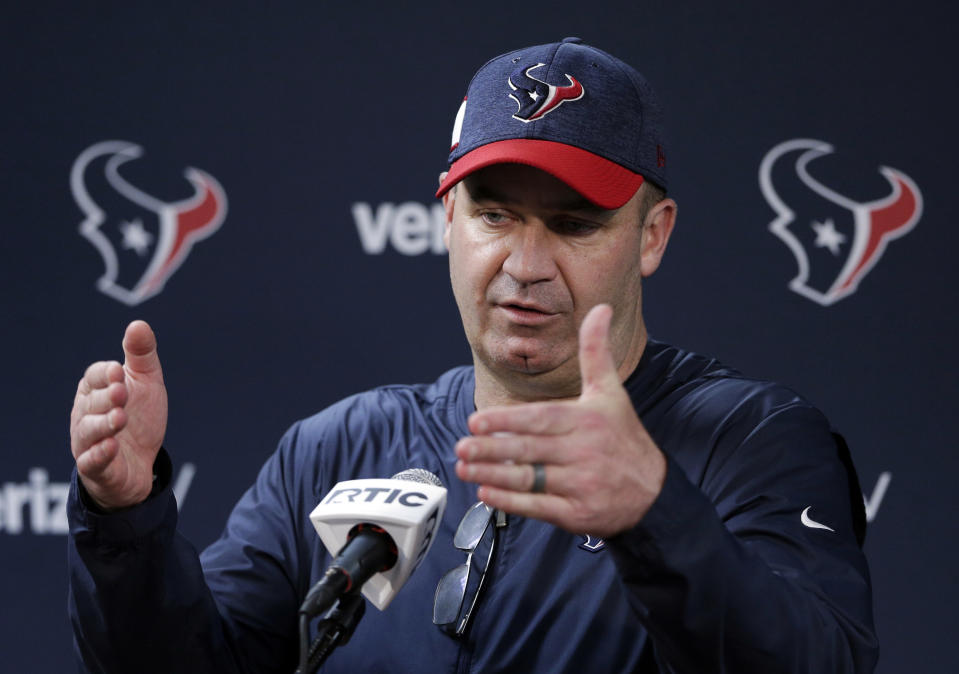 Houston Texans coach Bill O'Brien said he plans to take a knee with his players during the national anthem. (AP Photo/Michael Wyke)