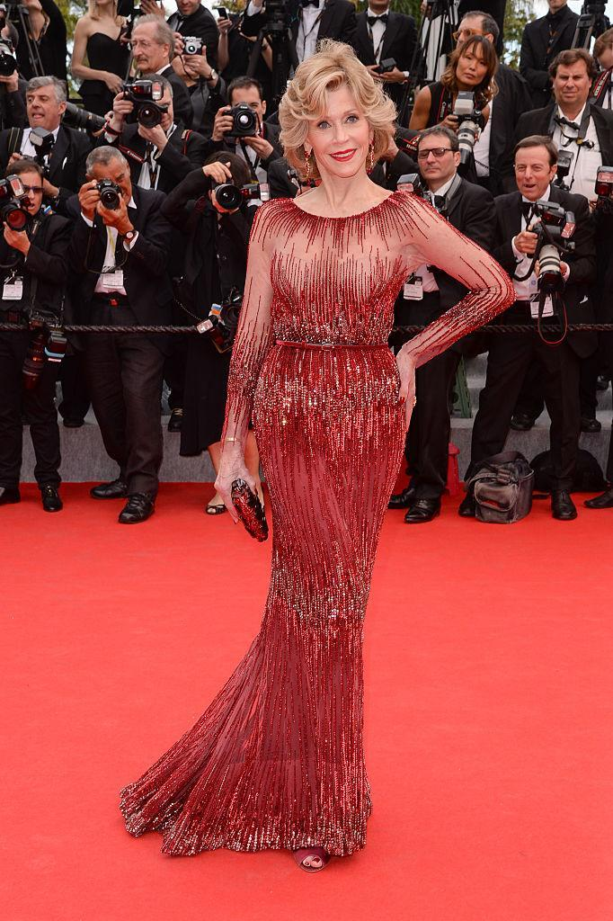 """<p><strong>When: May 14, 2014</strong><br>Looking drop dead gorgeous in this sparkling, long-sleeve burgundy Elie Saab number at the """"Grace of Monaco"""" premiere at the 67th Cannes Film Festival. <em>(Photo: Getty)</em> </p>"""