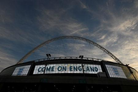 FILE PHOTO: Soccer Football - International Friendly - England vs Germany - Wembley Stadium, London, Britain - November 10, 2017   General view outside the stadium before the match    REUTERS/Toby Melville/File Photo
