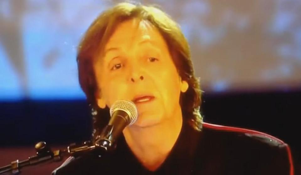 """<p>Thanks to the clanging of a 23-ton bell, Macca missed his cue to start 'Hey Jude', so the backing track kicked in at the opening ceremony of the London Olympics in 2012. """"I f**ked up,"""" he later admitted. It's OK, Paul, it was only in front of about 900 million viewers around the world.</p>"""