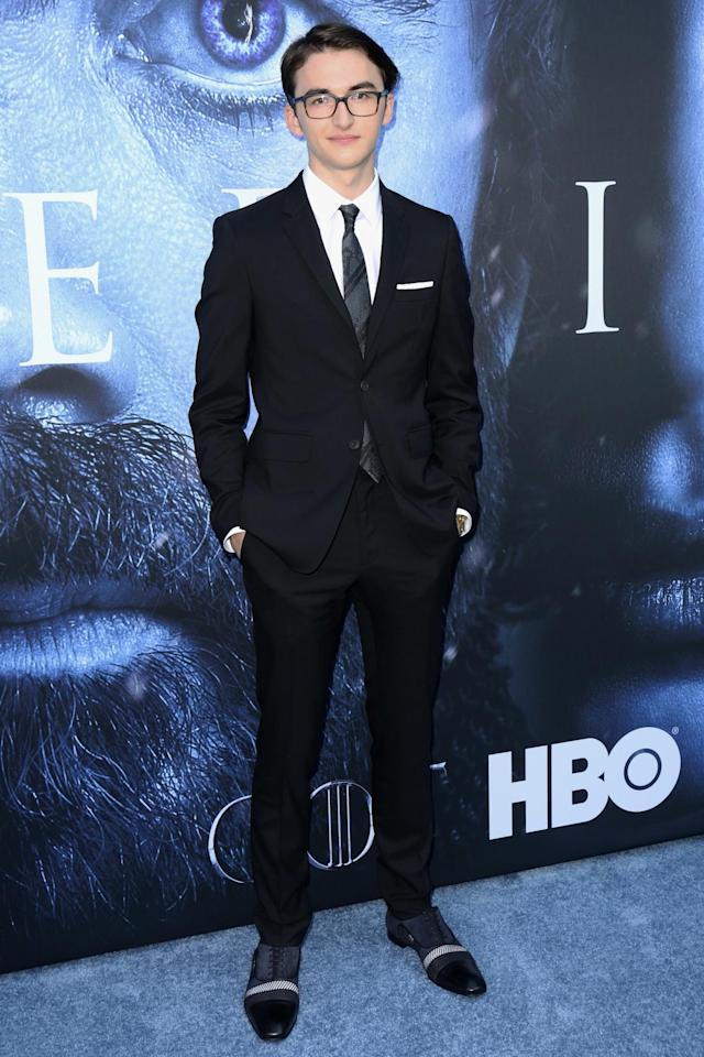 <p>The young actor sported some truly impressive shoes with his dark suit. (Photo: AP) </p>