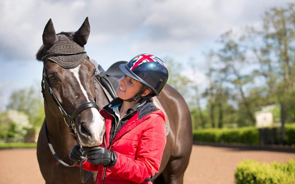 Charlotte Dujardin with Valegro at Carl Hester's stables back in 2014 - ANDREW CROWLEY