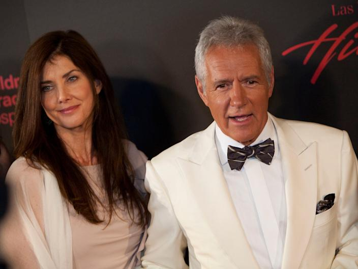 Alex Trebek and second wife Jean Currivan