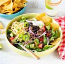 """<p>It's back-to-school season and that means quick, easy dinners are at the top of our list. This twist on taco night turns your favorite beef tacos into a hearty salad. Best of all? It's ready in 15 minutes! </p><p><a href=""""https://www.thepioneerwoman.com/food-cooking/recipes/a35824077/easy-taco-salad/"""" rel=""""nofollow noopener"""" target=""""_blank"""" data-ylk=""""slk:Get the recipe."""" class=""""link rapid-noclick-resp""""><strong>Get the recipe. </strong></a></p><p><a class=""""link rapid-noclick-resp"""" href=""""https://go.redirectingat.com?id=74968X1596630&url=https%3A%2F%2Fwww.walmart.com%2Fsearch%2F%3Fquery%3Dpioneer%2Bwoman%2Bskillets&sref=https%3A%2F%2Fwww.thepioneerwoman.com%2Ffood-cooking%2Fmeals-menus%2Fg36806222%2Ffall-salad-recipes%2F"""" rel=""""nofollow noopener"""" target=""""_blank"""" data-ylk=""""slk:SHOP SKILLETS"""">SHOP SKILLETS</a></p>"""