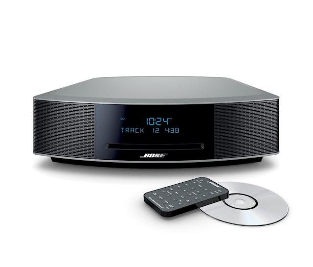 "<a href=""https://fave.co/2YtTwMn"">Bose Wave Music System IV in silver</a> (Photo: Bose)"