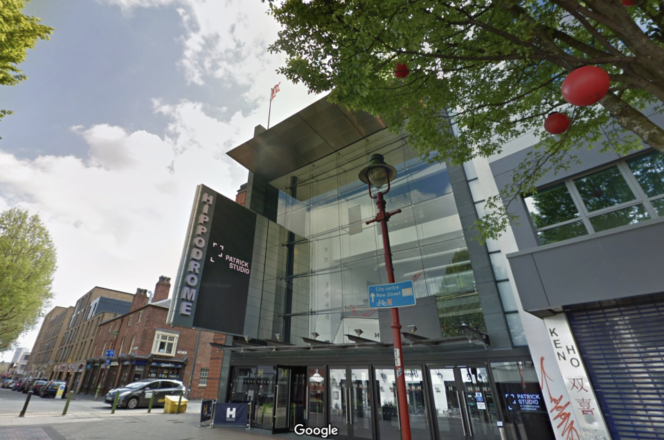 Omooba had been due to perform at the Birmingham Hippodrome. (Google Maps)