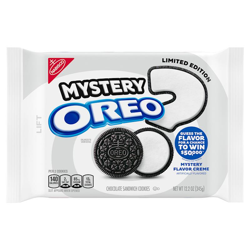 Packaging for Mystery Oreos on white background
