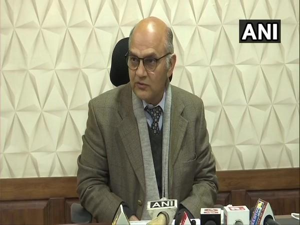 State Election Commissioner KK Sharma at a press conference. (Photo/ANI)