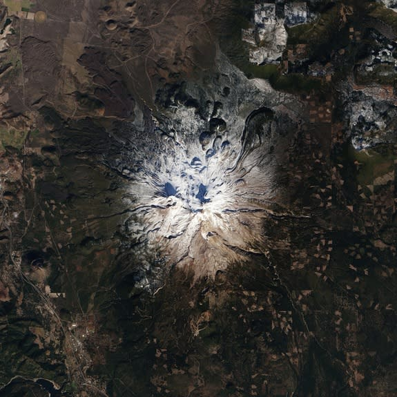 Mt. Shasta in November 2013 had less snow than usual.