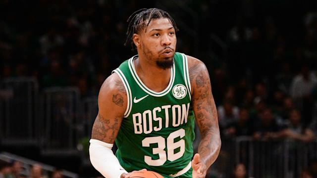 The Boston Celtics saw a 10-match winning run ended by the Sacramento Kings, with Marcus Smart rueing a miss on the buzzer.