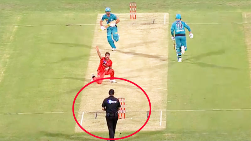 The umpire, pictured here giving Ben Cutting out in the Big Bash.