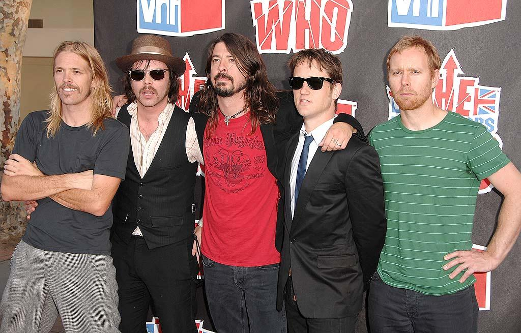 "Dave Grohl (center) and his Foo Fighters added some much-needed credibility to the red carpet. Steve Granitz/<a href=""http://www.wireimage.com"" target=""new"">WireImage.com</a> - July 12, 2008"
