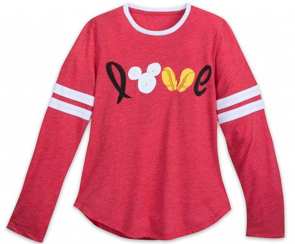 PHOTO: Mickey Mouse Long Sleeve Love Shirt for Women (Mickey Mouse Long Sleeve Love Shirt for Women)