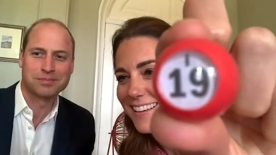 Kate and William turned bingo callers with a care home. (Kensington Palace)