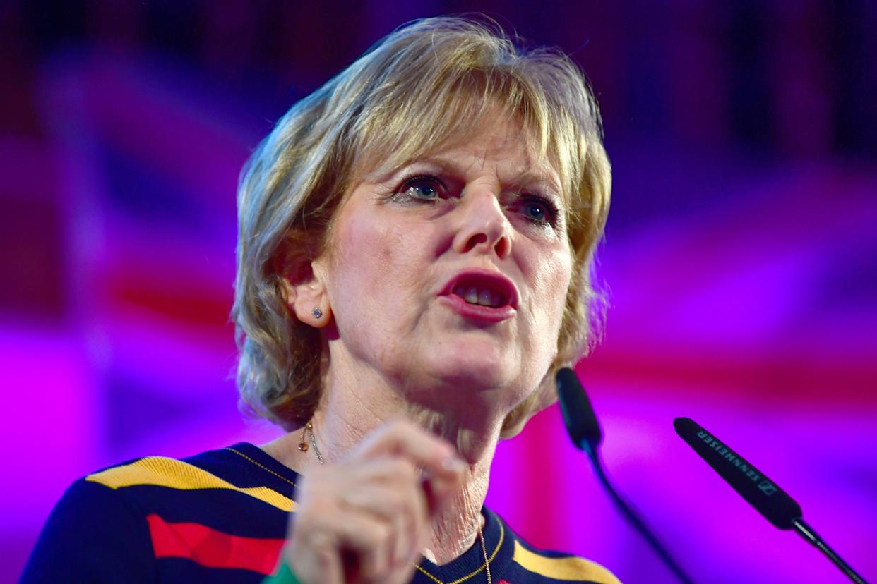 MP Anna Soubry speaks at the People's Vote Rally in Assembly Hall, Westminster.