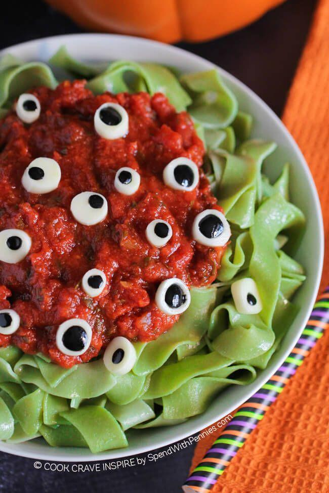 """<p>Those eyes are totally judging how much of this pasta you eat.</p><p>Get the recipe from<span class=""""redactor-invisible-space""""> <a href=""""http://www.spendwithpennies.com/eyeball-pasta-halloween-dinner-idea/"""" rel=""""nofollow noopener"""" target=""""_blank"""" data-ylk=""""slk:Spend with Pennies"""" class=""""link rapid-noclick-resp"""">Spend with Pennies</a>.</span></p>"""