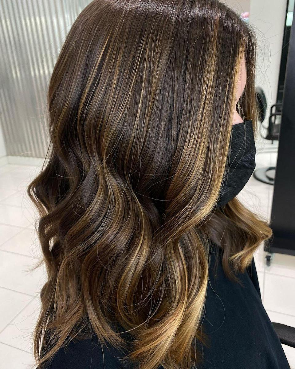 """Just a touch of brightness can change your whole look, without having to bleach all over. """"For a brunette, this has minimal maintenance with very manageable change,"""" says Schaudt. """"Ask for face-framing balayage, keep it very simple, and finish with a gloss. This will keep everything super shiny and fresh."""""""