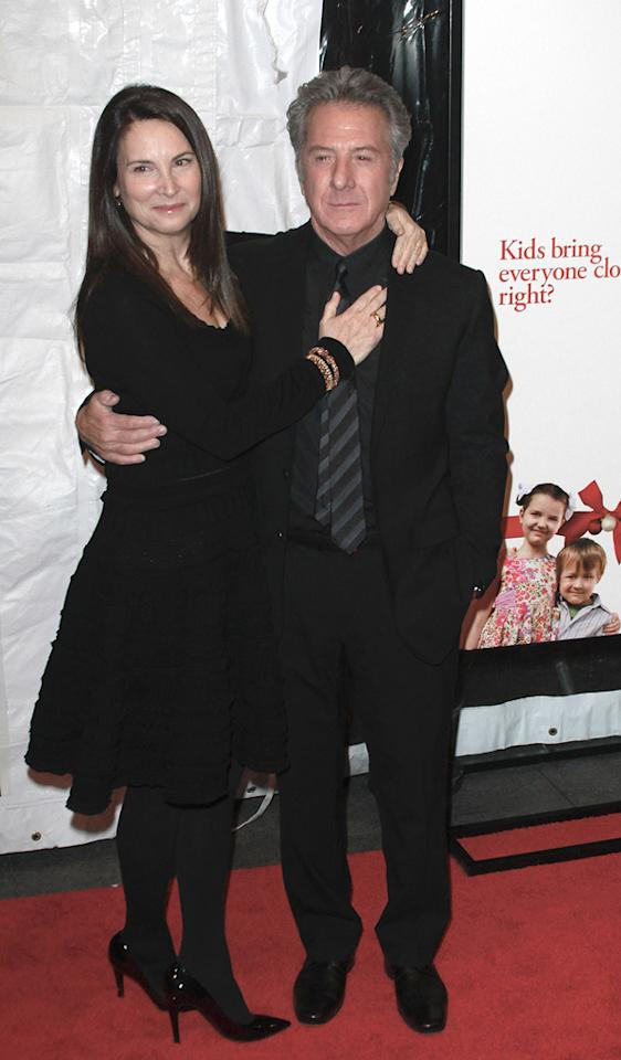 "<a href=""http://movies.yahoo.com/movie/contributor/1800014129"">Dustin Hoffman</a> and wife at the New York City premiere of <a href=""http://movies.yahoo.com/movie/1810110296/info"">Little Fockers</a> on December 15, 2010."